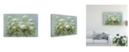 "Trademark Global Danhui Nai White Hydrangea Garden Canvas Art - 27"" x 33.5"""