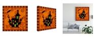 "Trademark Global Viv Eisner Spooktacular Orange IV Canvas Art - 15.5"" x 21"""