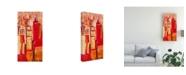 "Trademark Global Jennifer Gardner Pink City Sunrise II Canvas Art - 36.5"" x 48"""