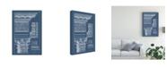 "Trademark Global Vision Studio Column and Cornice Blueprint II Canvas Art - 36.5"" x 48"""