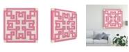 """Trademark Global June Erica Vess Maze Motif V Canvas Art - 15.5"""" x 21"""""""