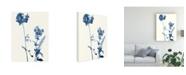 "Trademark Global Jennifer Goldberger Indigo Wildflowers V Canvas Art - 19.5"" x 26"""