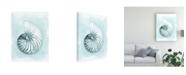 "Trademark Global Megan Meagher Coastal Shell Schematic II Canvas Art - 36.5"" x 48"""