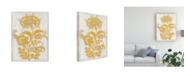 "Trademark Global Megan Meagher Saffron Detail II Canvas Art - 19.5"" x 26"""