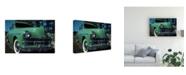 """Trademark Global Peter Potter Green Limousine Canvas Art - 15.5"""" x 21"""""""