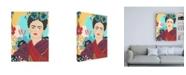 """Trademark Global June Erica Vess Frida's Garden II Canvas Art - 19.5"""" x 26"""""""