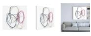 """Trademark Global Jennifer Goldberger Magenta Rounds II Canvas Art - 36.5"""" x 48"""""""