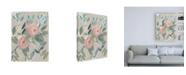 "Trademark Global Jennifer Goldberger Laurels Posies I Canvas Art - 36.5"" x 48"""
