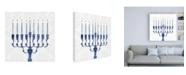 "Trademark Global Victoria Borges Sophisticated Hanukkah I Canvas Art - 15.5"" x 21"""