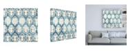 "Trademark Global June Erica Vess Flower Stone Tile VIII Canvas Art - 36.5"" x 48"""