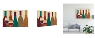 "Trademark Global Veronique Charron Wine Collage I with Glassware Canvas Art - 37"" x 49"""