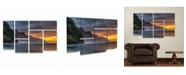 "Trademark Global Pierre Leclerc Napali Sunset Kauai Multi Panel Art Set 6 Piece - 49"" x 19"""
