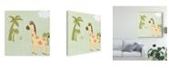 "Trademark Global June Erica Vess Baby Jungle I Canvas Art - 15"" x 20"""