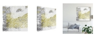 "Trademark Global June Erica Vess Block Print Abstract VII Canvas Art - 20"" x 25"""