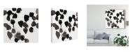 """Trademark Global June Erica Vess Monochrome Gestures II Canvas Art - 20"""" x 25"""""""