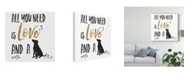 "Trademark Global Veronique Charron Pet Love Ii V2 Canvas Art - 20"" x 25"""