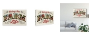 "Trademark Global Janelle Penner Farm Life IV on Wood Canvas Art - 15"" x 20"""