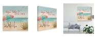 "Trademark Global Janelle Penner Beach Time II Canvas Art - 15"" x 20"""