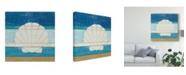 "Trademark Global Michael Mullan Beachscape Shell V2 Canvas Art - 15"" x 20"""