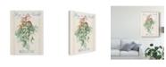 "Trademark Global Danhui Nai Floursack Holiday IV Canvas Art - 15"" x 20"""