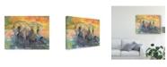 """Trademark Global Chris Paschke Elephants Crop Canvas Art - 15"""" x 20"""""""