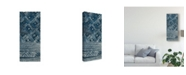 "Trademark Global Wild Apple Portfolio Indochina Batik Ii Crop Canvas Art - 37"" x 49"""