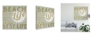 """Trademark Global June Erica Vess A Little Beachy II Canvas Art - 15"""" x 20"""""""