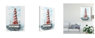 "Trademark Global Naomi Mccavitt Watercolor Lighthouse IV Canvas Art - 15"" x 20"""