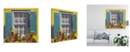 "Trademark Global Rick Novak Window Floral I Canvas Art - 20"" x 25"""