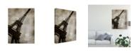 "Trademark Global Honey Malek Vintage Eiffel II Canvas Art - 20"" x 25"""
