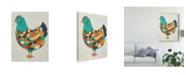 "Trademark Global Chariklia Zarris Country Chickens II Canvas Art - 37"" x 49"""