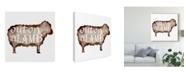"Trademark Global Melissa Wang Punny Animal IV Canvas Art - 20"" x 25"""