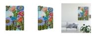 """Trademark Global Karen Fields Secret Garden Floral IV Canvas Art - 15"""" x 20"""""""