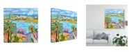 """Trademark Global Karen Fields Palm Retreat Canvas Art - 20"""" x 25"""""""