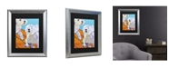 "Trademark Global Pat Saunders-White Catch Me Matted Framed Art - 20"" x 25"""