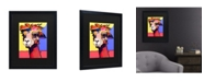 "Trademark Global Pat Saunders-White Peaches Matted Framed Art - 15"" x 20"""
