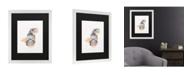 "Trademark Global Pat Saunders-White Blue Fish Matted Framed Art - 20"" x 25"""