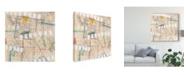 "Trademark Global Nikki Galapon Grid Lines I Canvas Art - 15"" x 20"""