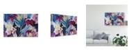 "Trademark Global Joan E. Davis Happy Flower Bar II Canvas Art - 37"" x 49"""
