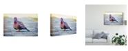 "Trademark Global Pixie Pics Brown City Bird Canvas Art - 20"" x 25"""