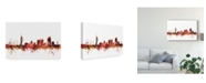 "Trademark Global Michael Tompsett Portsmouth England Skyline Red Canvas Art - 20"" x 25"""