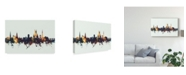 "Trademark Global Michael Tompsett Worcester England Skyline IV Canvas Art - 20"" x 25"""
