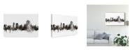 """Trademark Global Michael Tompsett Lincoln England Skyline Black White Canvas Art - 37"""" x 49"""""""