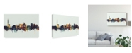 "Trademark Global Michael Tompsett Carlisle England Skyline IV Canvas Art - 20"" x 25"""
