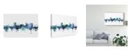 """Trademark Global Michael Tompsett Dundee Scotland Skyline Blue Canvas Art - 37"""" x 49"""""""