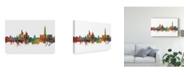 "Trademark Global Michael Tompsett Ho Chi Minh City Vietnam Skyline II Canvas Art - 37"" x 49"""