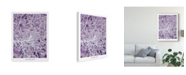 "Trademark Global Michael Tompsett Hamburg Germany City Map Purple Canvas Art - 20"" x 25"""