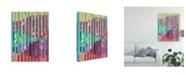 """Trademark Global Regina Moore Quilted Monoprints III Canvas Art - 15"""" x 20"""""""
