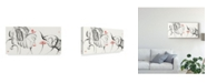"Trademark Global Nan Rae Lotus Study with Coral III Canvas Art - 15"" x 20"""