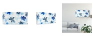 "Trademark Global June Erica Vess Blue Gossamer Garden V Canvas Art - 15"" x 20"""
